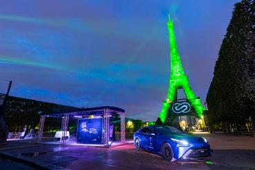 Eiffeli torn värvus vesinikenergia jõul roheliseks