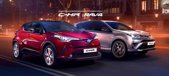 Toyota C-HR ja RAV4 pakkumine