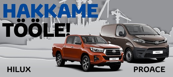 Toyota Proace ja Hilux eripakkumised