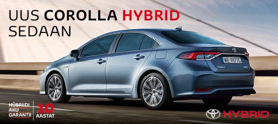 Toyotal on igaühele oma Corolla - Corolla sedaan
